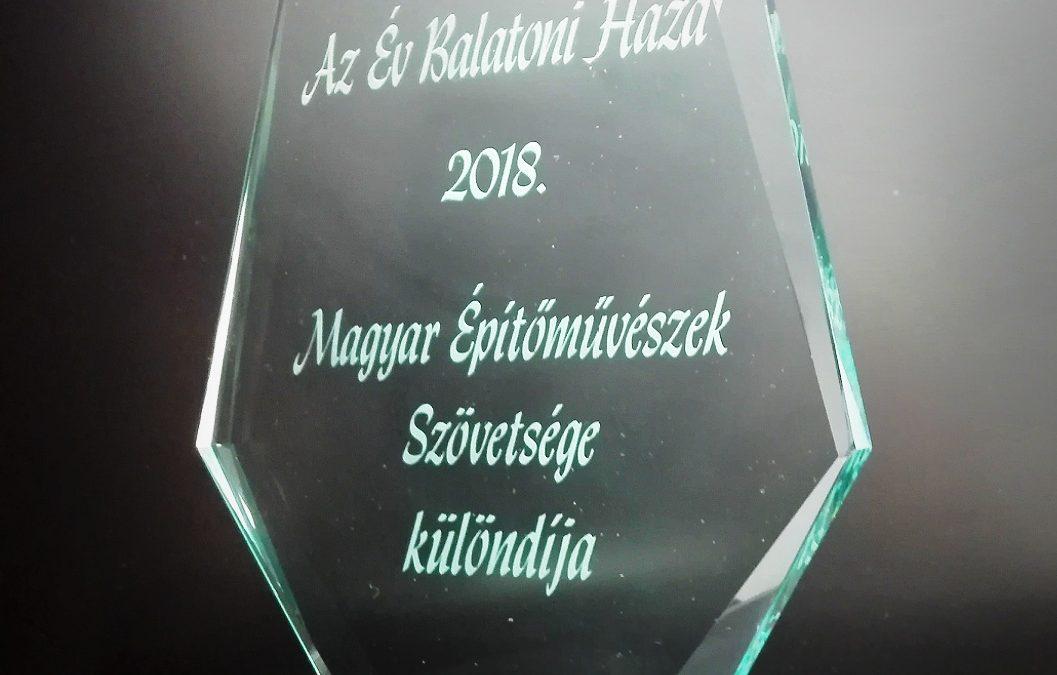 """Az """"Év balatoni háza"""" pályázaton különdíjat nyert a kikötő új épülete"""